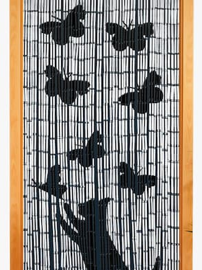 Bamboegordijn - zwart