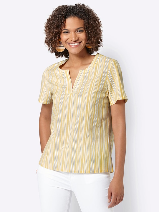 Collection L Bluse - gelb-gestreift