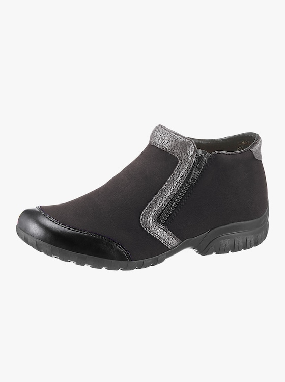 Rieker Slipper - schwarz-silberfarben