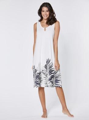 feel good Sommerkleid - weiß-bedruckt