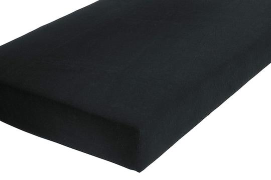 Schlafgut Spannbetttuch - schwarz