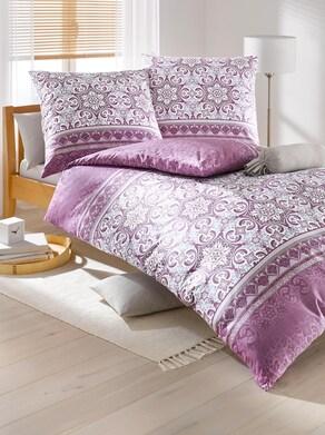 Biberna Bettwäsche - violett-mauve