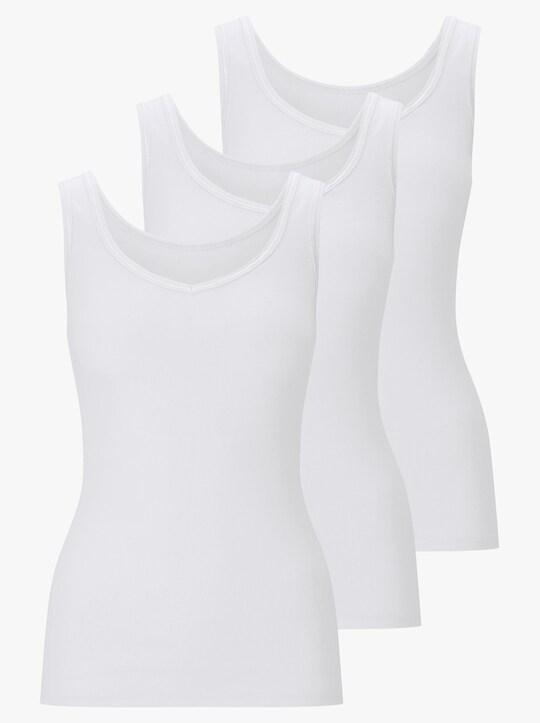 wäschepur Achselhemd - weiß