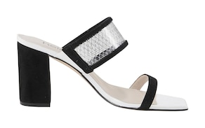heine Sandalette - schwarz-weiß