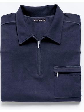 Catamaran Langarm-Poloshirt - marine