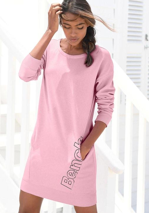 Bench. Sweatkleid - rosa-schwarz