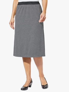 Jerseyrok - zwart/wit visgraat