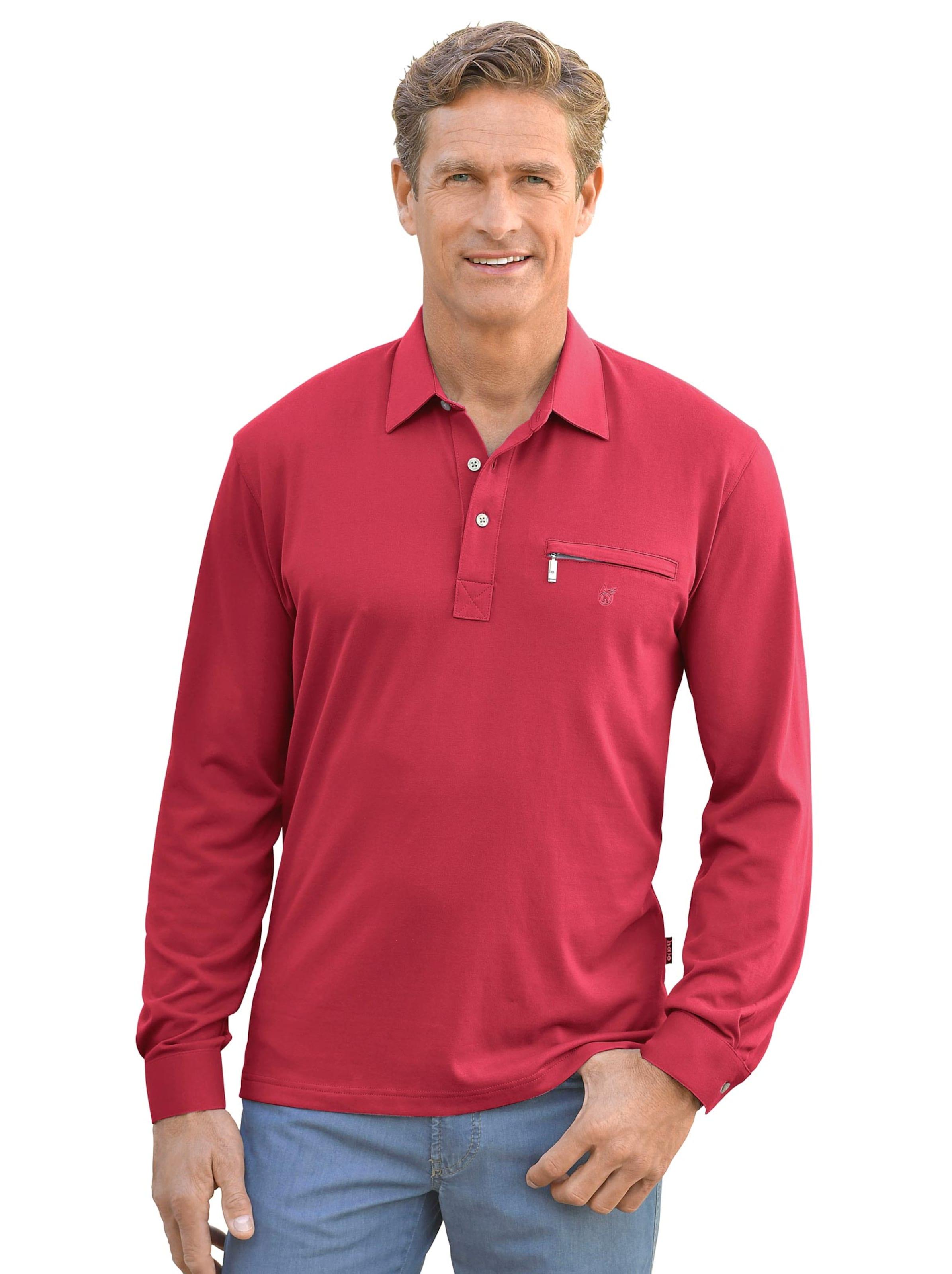 hajo - Herren Langarm-Shirt rot