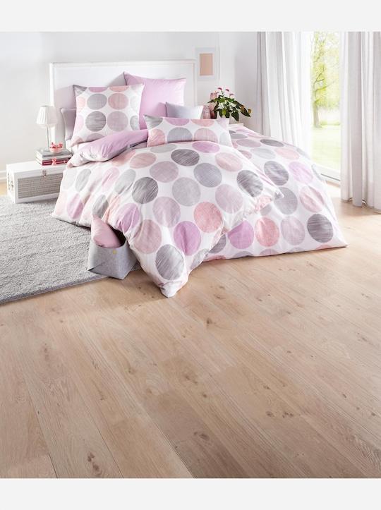 Biberna Bettwäsche - rosa-bedruckt