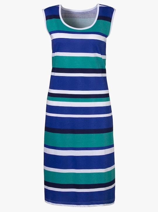 Letné šaty - tyrkysová pásikovaná