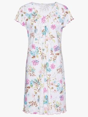 Sleepshirt - weiß-gemustert