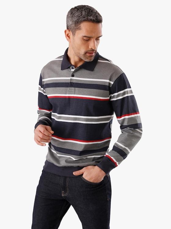 Poloshirt - marine-geringelt