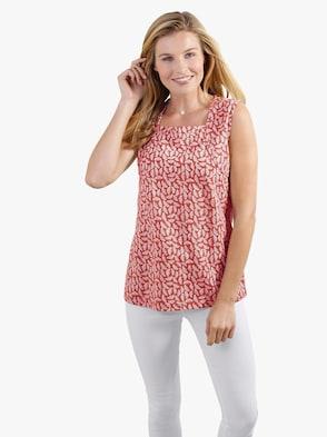 Tričkový top - Zemitý vzor