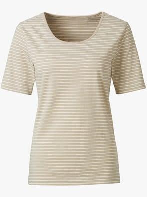 Shirt - beige-weiß-gestreift