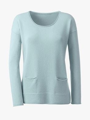 Pullover - aqua-meliert