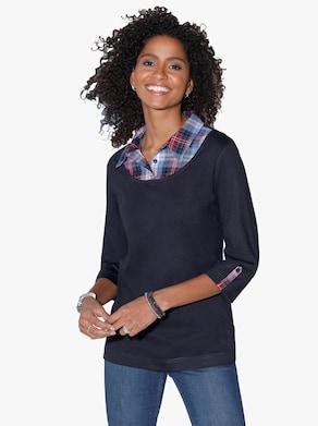 2-in-1-shirt - marine