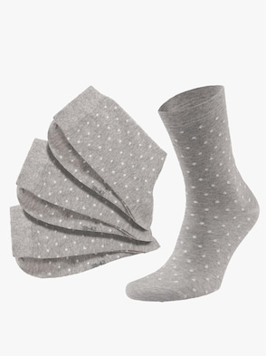 Damen-Socken - grau-meliert