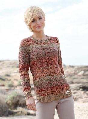 Pullover - zimt-gemustert