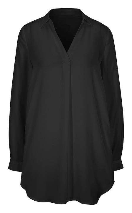 Rick Cardona Longline blouse - zwart