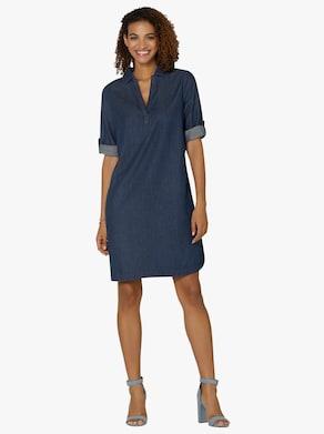 Džínové šaty - sepraná modrá stone