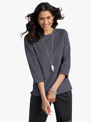Shirt - jeansblau-gemustert