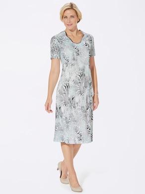 Jersey-Kleid - mint-bedruckt