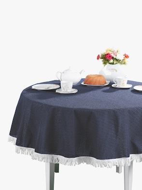 Garten-Tischdecke - dunkelblau
