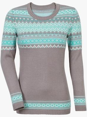 Pullover - grau-blau