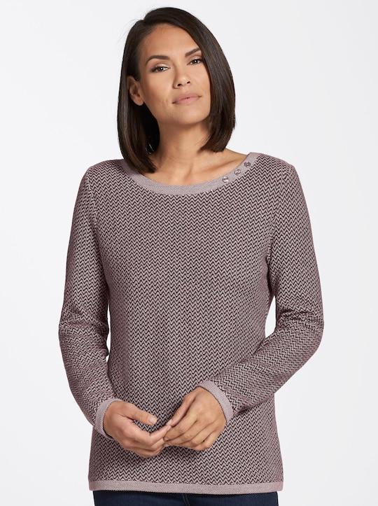 Shirt - bordeaux-gemustert