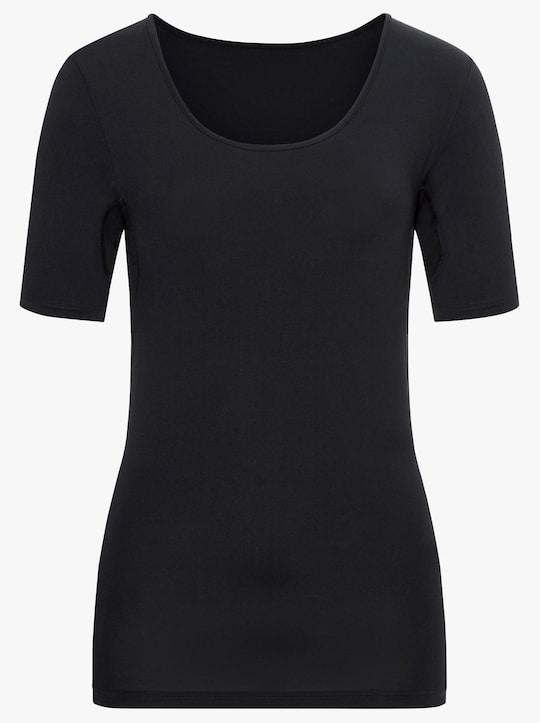wäschepur Halbarmshirt - schwarz