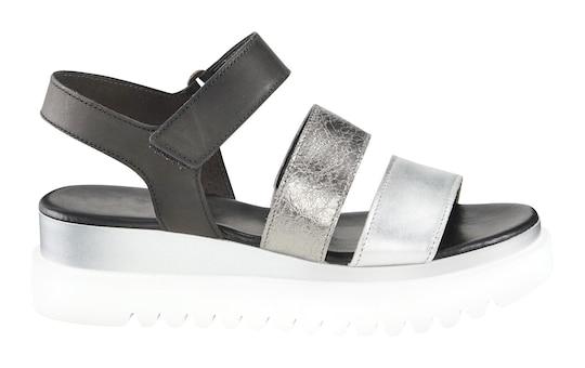 Gabor Sandalette - silberfarben-schwarz