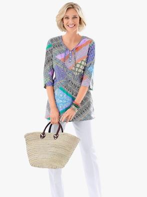 Comfortabele blouse - bont geprint
