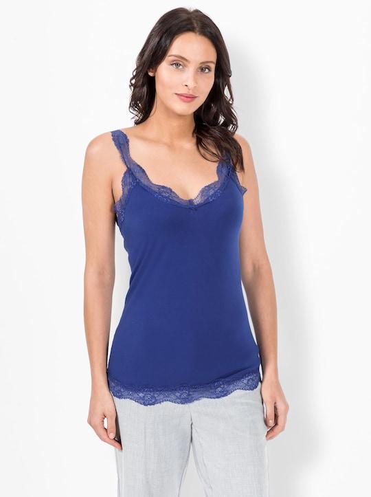 Fair Lady Shirttop - royalblau