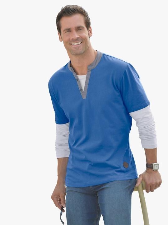 Marco Donati Tričko s dlouhým rukávem - modrá