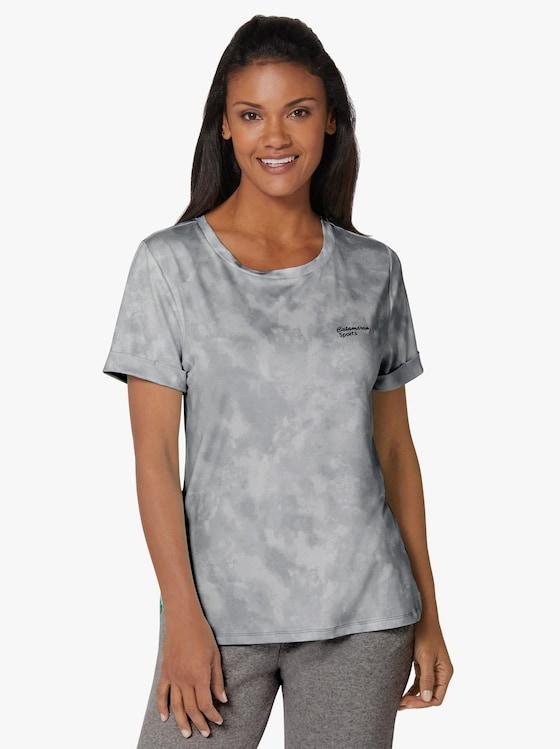 Freizeitshirt - grau-bedruckt