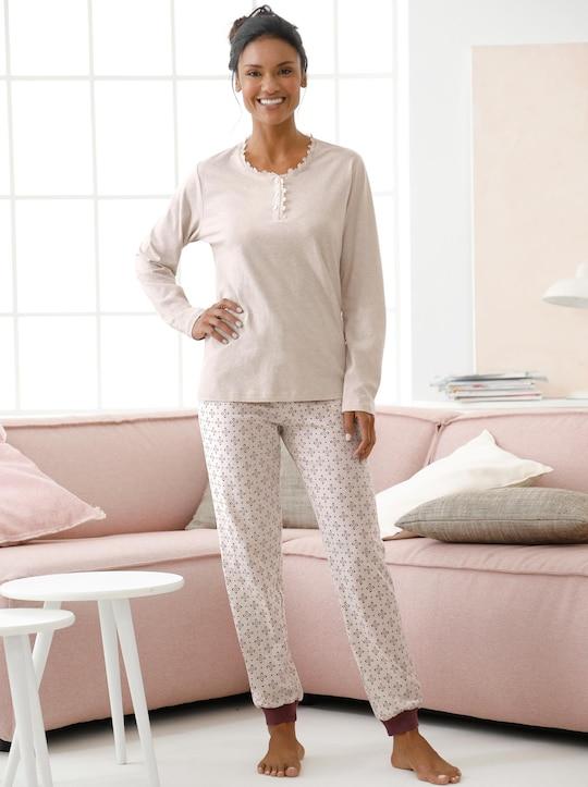 wäschepur Schlafanzug-Hose - beige-gemustert
