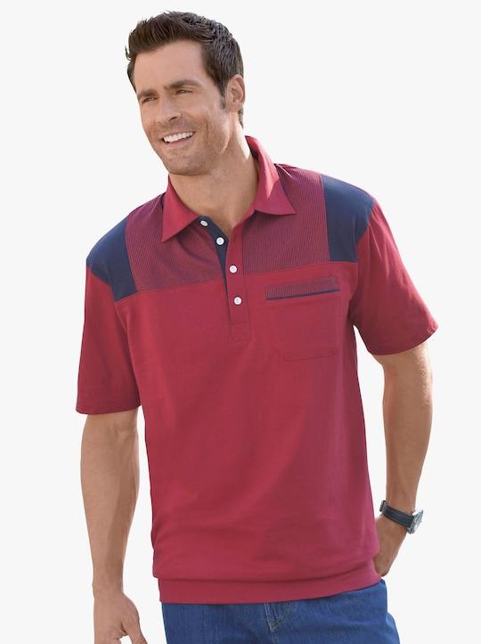 Poloshirt - rot-marine