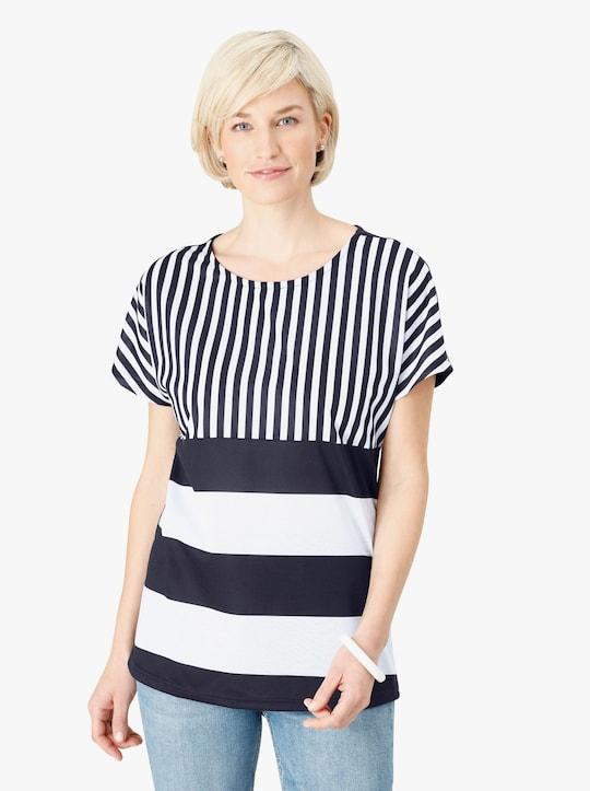 Shirt - marine/wit gestreept