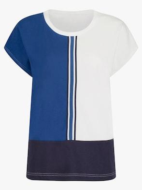 Shirt - weiß-gemustert