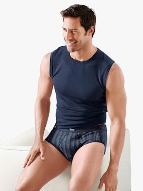 Shirt - bordeaux + marine + grau