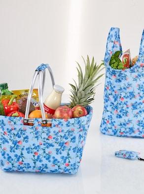 Einkaufskorb + Einkaufstasche - bleu