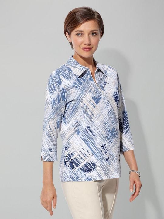 Shirt - blau-gemustert