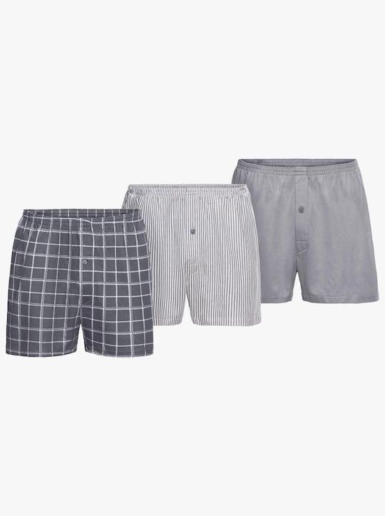 KINGsCLUB Boxershorts - grijs gesorteerd