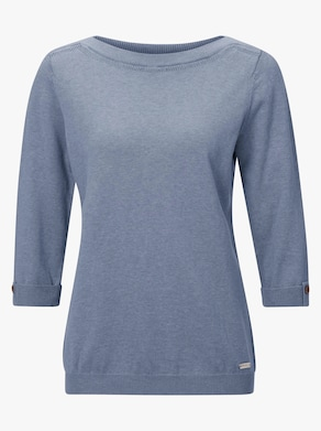 Pullover - bleu-meliert