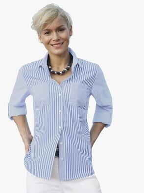 Bluse - blau-weiß-gestreift