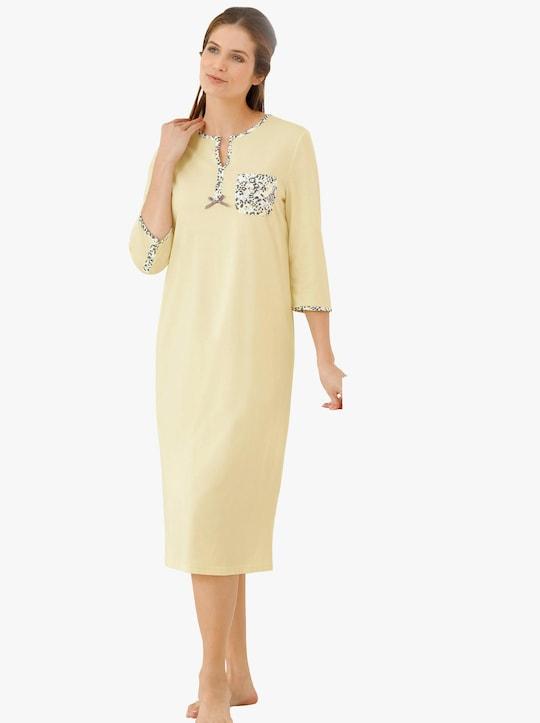 wäschepur Nachthemd - vanillegeel