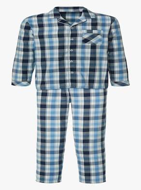 Pyjama - blau-kariert