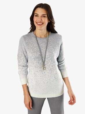 Pullover - ecru-grau
