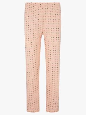 Ascafa Schlafanzug - apricot-bedruckt