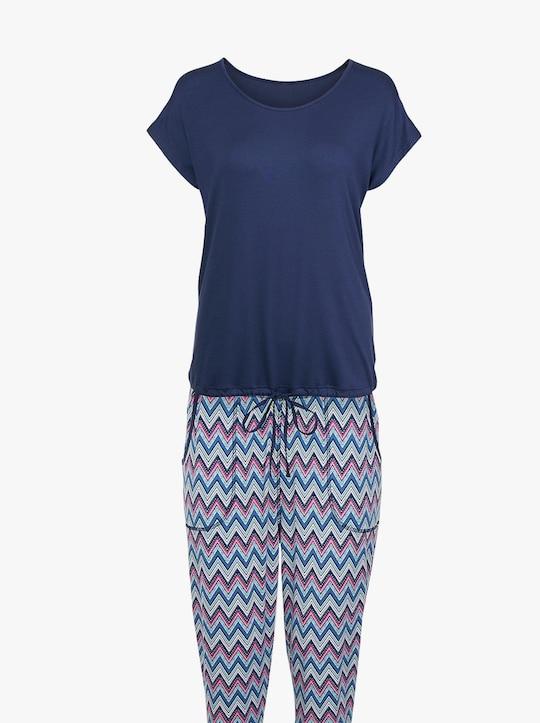 wäschepur Schlafanzug - marine-gemustert